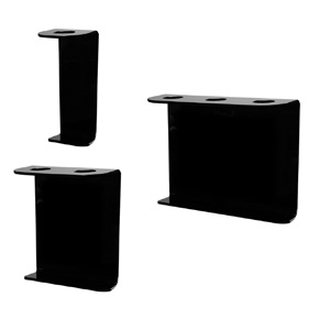 16oz Boston Rd Dispenser Brackets, Black