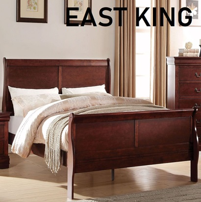 23747EK Louis Philippe E. KING BED CHERRY