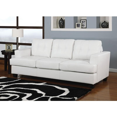 15062 WHITE BND L. SOFA W/Q.SLEEPER