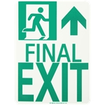 Lume-A-Lite NYC Compliant Running Man Final Exit Signs