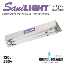 SaniLIGHT® UV Air and Surface Irradiating Fixtures - Two Lamp Cold Cathode