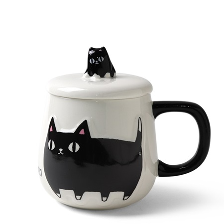 Cat Pals 10 oz. Mug with Lid Kuro