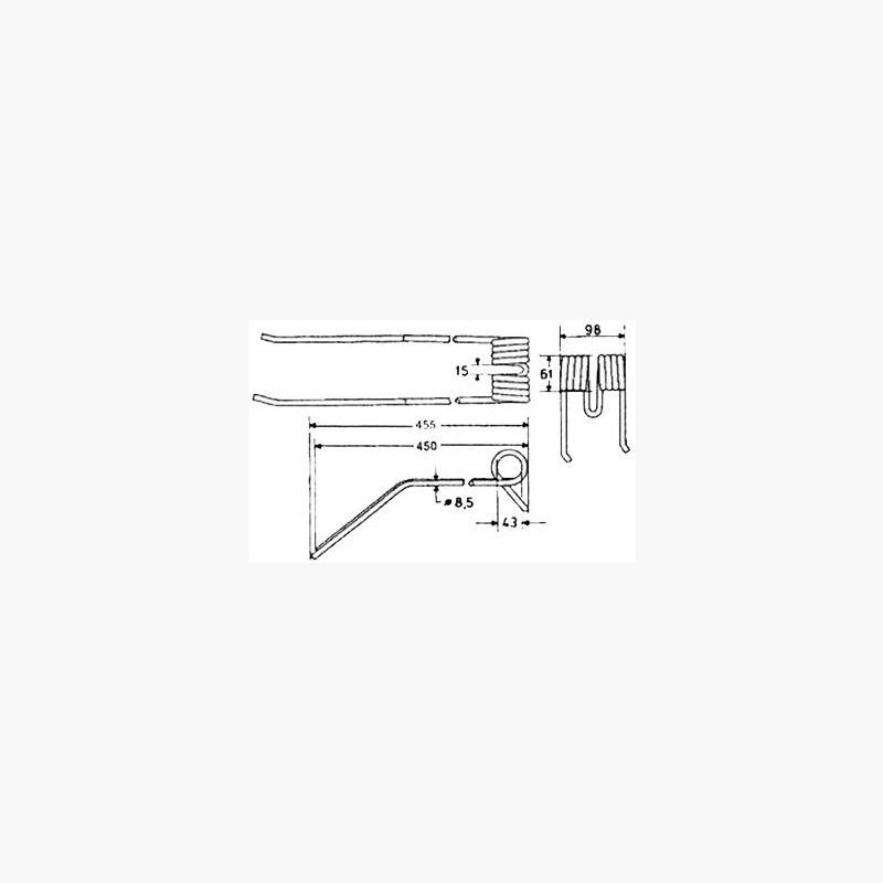 Braber Equipment - Kuhn Rake, Rotary Swath Turner Tines