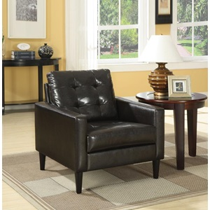 59046 ESPRESSO PU ACCENT CHAIR
