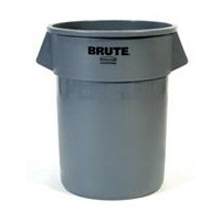 Rubbermaid 55 Gallon Gray Brute Container