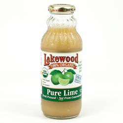Lime Juice, 100% Pure, Organic - 12.5oz