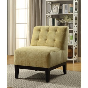 59493 YELLOW ACCENT CHAIR