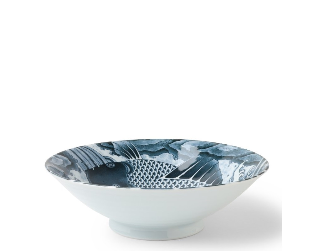 "Koi 10"" Serving Bowl Gray"