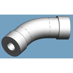 "Elbow, 1/8"" NPT, 45 Degree, Stainless Steel"