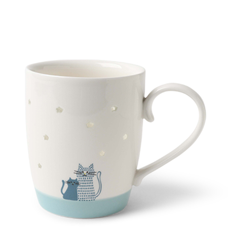 Mug Under The Stars Blue Cats