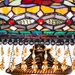 "27.5""H Stained Glass Parisian Double Lit Table Lamp"