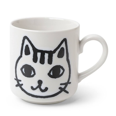 Mug Cat Face Sketch