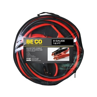 8 Gauge 12 ft Booster Cable