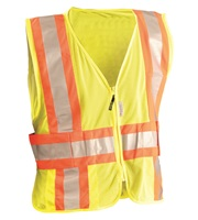 High Visibility Premium Mesh Two-Tone Expandable Vests