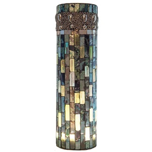 "10.75""H Beaded Mosaic LED Lit Vase"