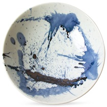 "Blue Sumi 9.75"" Serving Bowl"