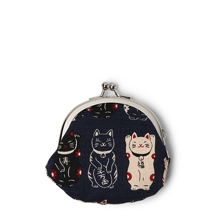 Purse Blue Fortune Cats - Coin