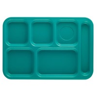 Cambro PS1014414 Penny-Saver School Tray 6-Compartment