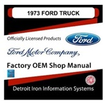 1973 Ford Truck & Van Factory Shop Manual, CD