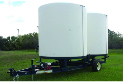 Dual 3000 Gallon Cone Bottom Tank Field Trailer
