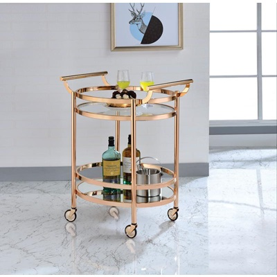 98192 ROSE GOLD SERVING CART