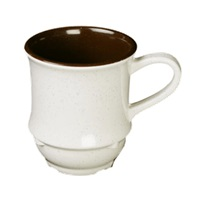 "Thunder Group Ad918Aa Arcadia Melamine 3-1/4"" Two-Tone Mugs 9 Oz."