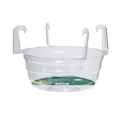 Hanging Basket Drip Pan with Hooks