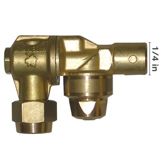 "1/4"" Female Italian Made Brass Rollover Nozzle"