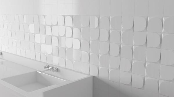 Tierra Sol Ceramic Tile Inedita Essential - 5x5 white ceramic tile