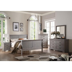 25500Q L.P.III GRAY QUEEN BED