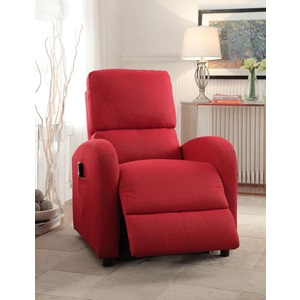 59345 RED RECLINER W/POWER LIFT