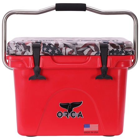 One Nation Vintage Lid Red/White 20 Quart