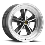 17 x 8 Legendary GT9 Alloy Wheel, 5 on 4.5 BP, 4.75 BS,Charcoal / Machined