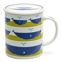 WHALE 8 OZ. LIDDED MUG - YELLOW