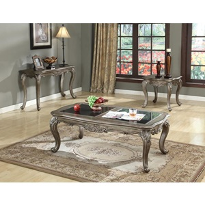 80542 ANTIQUE SILVER SOFA TABLE