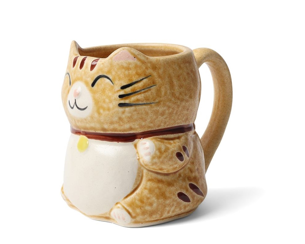 Mug Cat Yellow 8 oz.