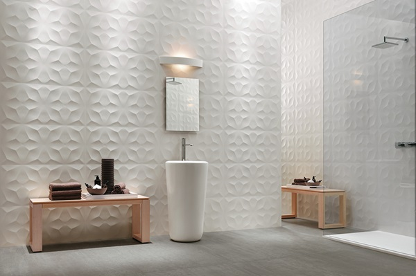 Tierra Sol Ceramic Tile - Atlas Concorde 3D Wall Design