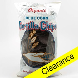Tortilla Chips, Blue, Organic - 14oz (Clearance)