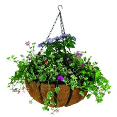 "14"" Forge Hanging Basket with Coco Liner"