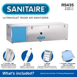 Sanitaire Model RS435 Included Accessories