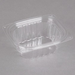 C6DER DART 6 OZ CLEAR PLASTIC CONTAINER, 4-7/8 X 4-1/8 X 1.75  1008/CASE