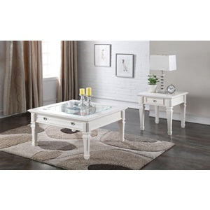 80530 WHITE COFFEE TABLE