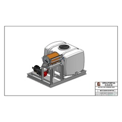CAD drawing 200 Gallon Curbside Sprayer Skid