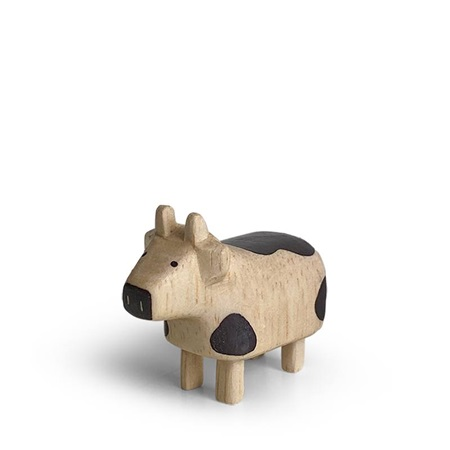 T-Lab Wooden Animal Zodiac Cow