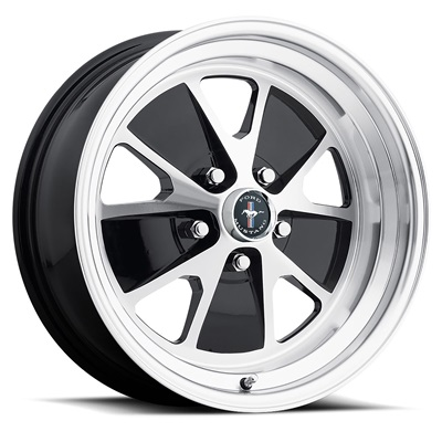 17x7 Styled Alloy Wheel, 5 on 4.5 BP, 4.25 BS, Gloss Black / Machined
