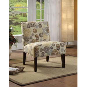 59069 ACCENT CHAIR BEIGE/CIRCLES F.