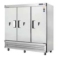 Everest EBF3 3-Door Upright Reach-In Freezer Bottom Mount