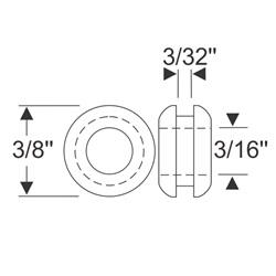 "Multi Purpose Grommet 3/4"" x 3/32"""