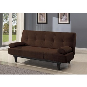 05855W-BR BROWN ADJUSTABLE SOFA