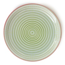 "Sen Colors 9.75"" Plate - Green"